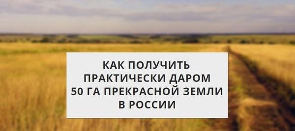 КАК ПОЛУЧИТЬ 30-50 ГА ЗЕМЛИ В РОССИИ для создания своего крестьянского хозяйства