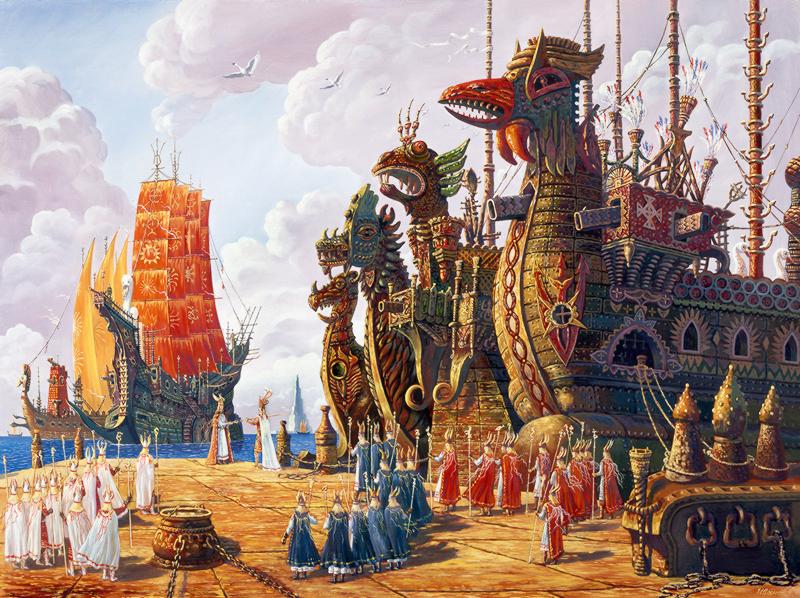 Гиперборейский флот на рейде