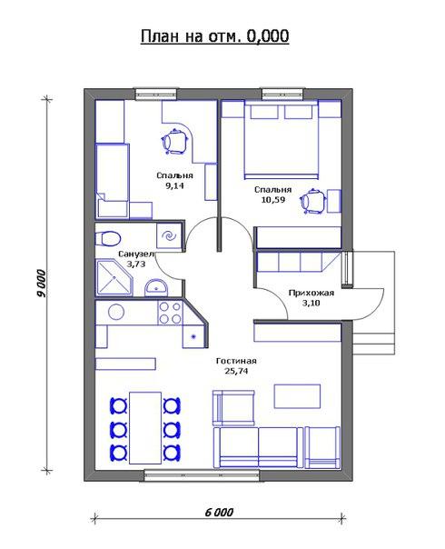 Самый дешёвый дом - планировка