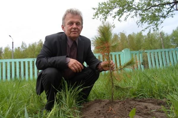 Тысячи саженцев для проекта выращивает пенсионер Андрей Аншуков