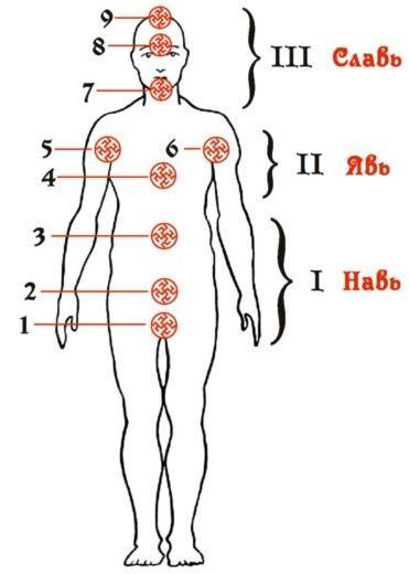 Тела человека по славянской традиции