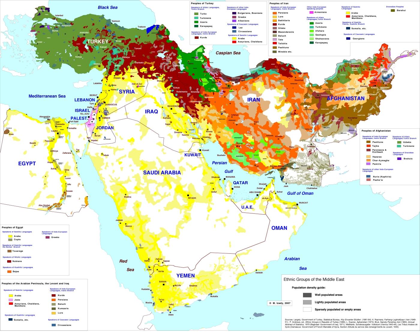 Этносы Ближнего и Среднего Востока