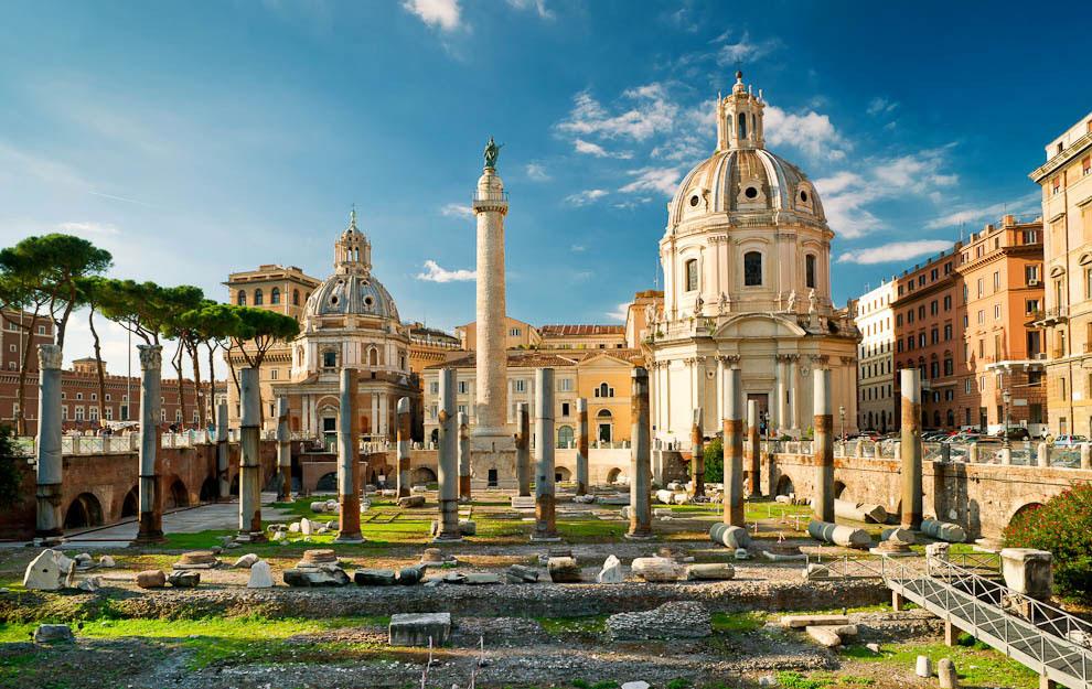 ОТКАПЫВАНИЕ основания колонны Траяна