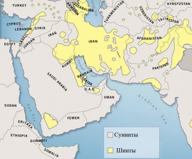 Сунниты и Шииты на Ближнем Востоке