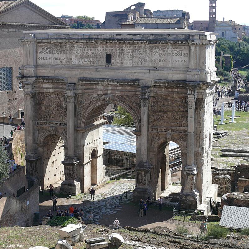Триумфальная арка Септимия Севера в наше время