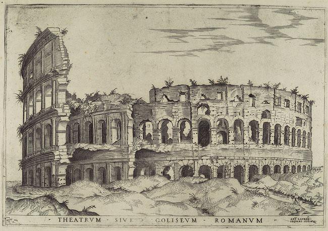 На изображении засыпанный Колизей