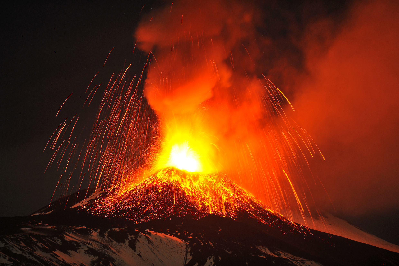 Italy Etna Volcano Eruption