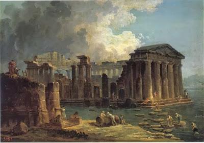 1800ca Paestum, Tempio Di Nettuno Hubert Robert