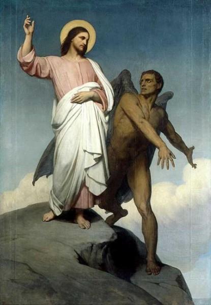 сцена искушения Христа диаволом