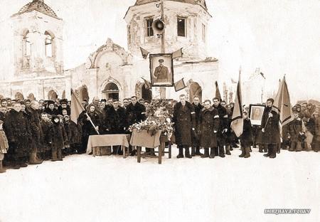 Прощание с И.Сталиным. Район Калача Воронежской области. Март 1953 г.
