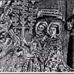 Поклоненние русских царей новорожденному Спасителю. Гравюра