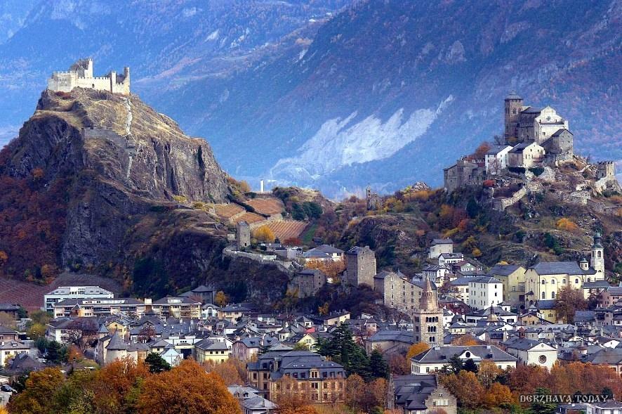 Крепость и замок Сион (Швейцария).