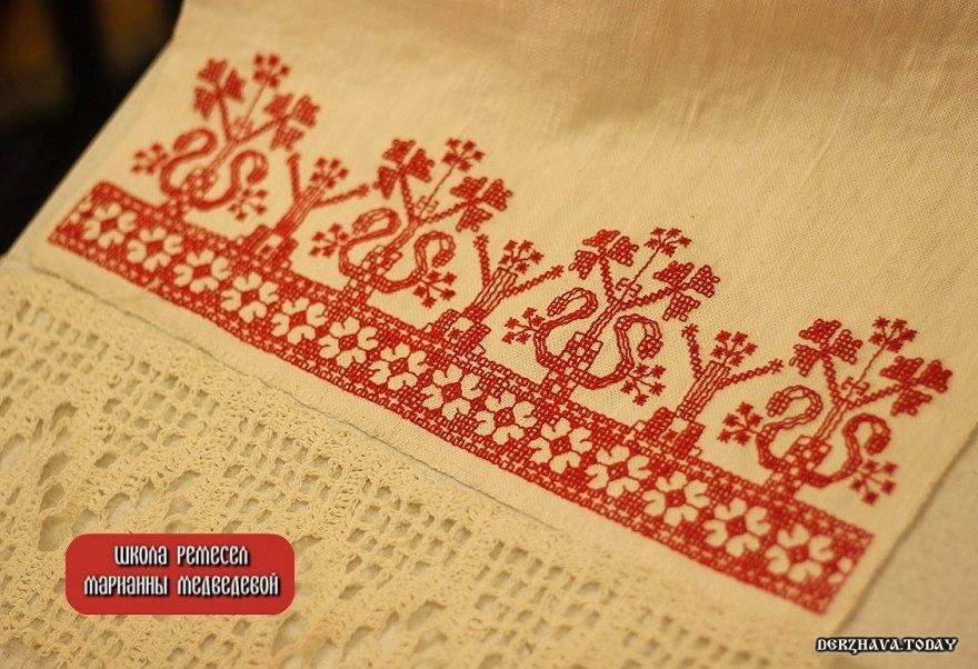 """Старинная русская вышивка Шов """"роспись"""""""